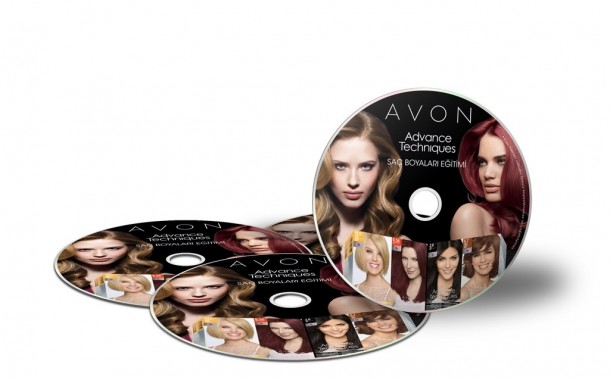 Avon Hair Colors CD Design